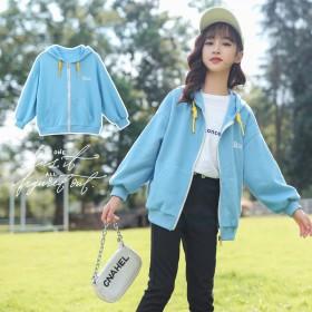 女童三色米呢外套2021新款中大童时髦洋气学生韩版