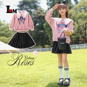 女童热气球套装2021新款中大童时髦洋气12岁女孩