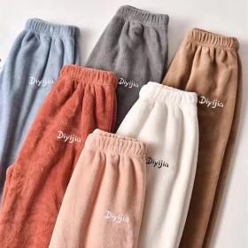 秋冬珊瑚绒睡裤保暖家居暖暖裤