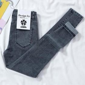 高腰牛仔裤女2021年新款春季