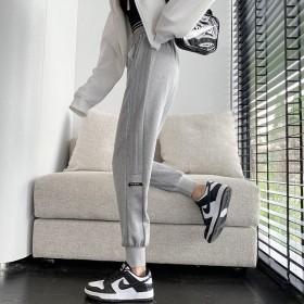 运动裤女秋款加厚2021新款宽松束脚百搭休闲显瘦