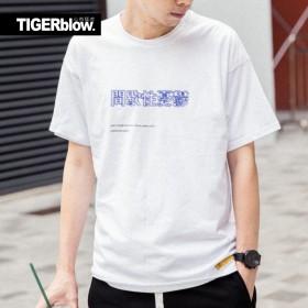 文字t恤男短袖oversize宽松国潮嘻哈大码