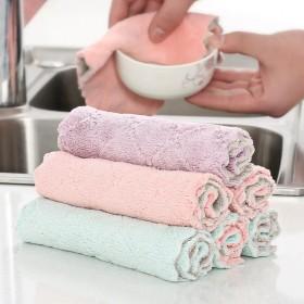 吸水洗碗布加厚擦桌布毛巾厨房不沾油清洁抹布