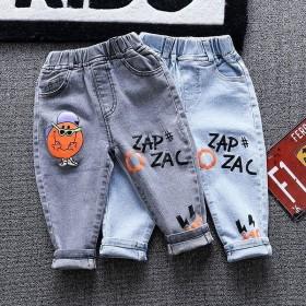 牛仔裤儿童裤子宽松长裤中小童韩版休闲裤