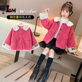 女童小麦款大衣2021新款中大童时尚洋气韩版12岁