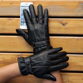 皮手套男冬季加绒骑行骑车防风保暖男女士通用