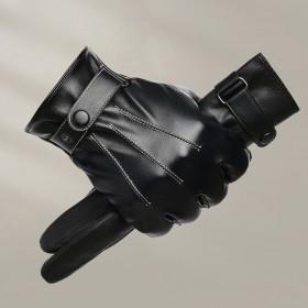 D皮手套男女通用保暖骑行手套