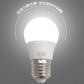 无频闪LED灯泡足5W白光   黄光  可选