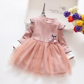 新店开张!新款长袖连衣裙小女孩童裙儿童洋气网纱公主
