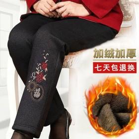 中老年人女裤冬加绒棉裤