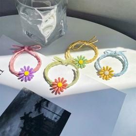 彩色雏菊发绳泫雅花朵发圈韩国少女可爱头绳