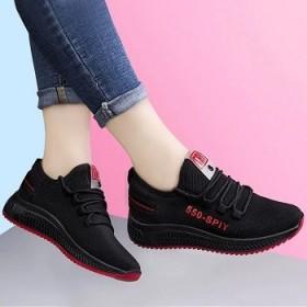 低帮平跟休闲前系带圆头日常四季女鞋浅口休闲运动鞋女