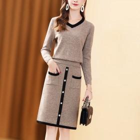 毛衣套装裙子两件套新款韩版气质时尚百搭显瘦针织套装