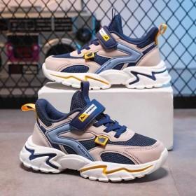新款网面透气运动鞋夏季男童老爹鞋双网防滑儿童跑步鞋