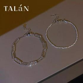 银色链条素圈手绳简约时尚手链ins小众设计日韩新款