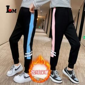 女童双杠款裤子2021新款儿童韩版学生12岁网红个