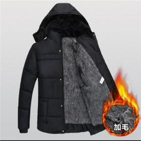 秋冬中老年棉服男士爸爸装外套