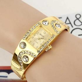 手镯手表复古带钻女表手表腕表女表方形手链表