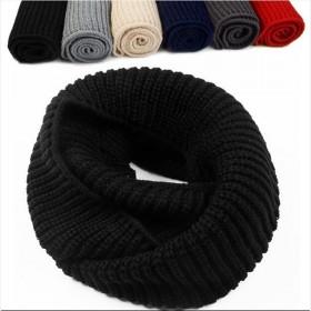 秋冬款围脖女韩版围巾百搭毛线针织围脖脖套