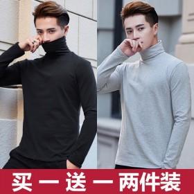 男士长高领打底衫潮流韩版长袖T恤男加绒舒适内衣