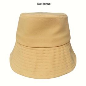 纯色水桶帽防晒渔夫帽
