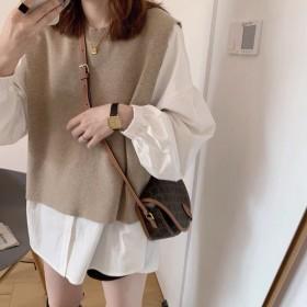 2021秋冬装新款韩版时尚显瘦减龄套装女时尚衬衫马