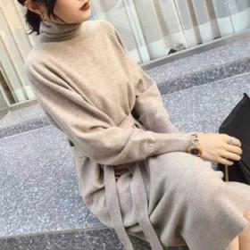 【不掉色不起球】新款韩版宽松针织连衣裙加厚保暖过膝