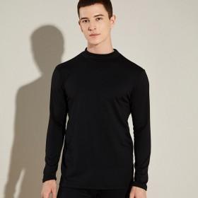 男士秋衣长袖中高领打底衫加绒薄款T恤高领保暖上衣