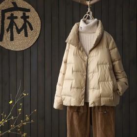 轻薄保暖短款女士羽绒服外套