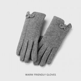 冬天可爱骑行保暖防寒加绒骑车防风羊剪绒秋冬季棉手套