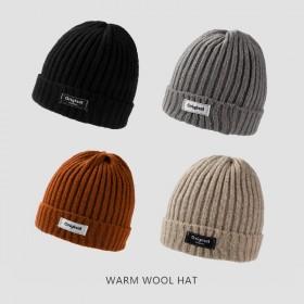 针织帽女冬季毛线帽子秋冬保暖适合圆脸显脸小堆堆帽潮