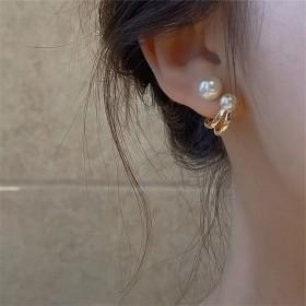珍珠耳环2021年新款潮耳钉女小众设计感气质法式轻