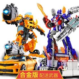 变形金刚玩具汽车人擎天柱大黄蜂恐龙机器人
