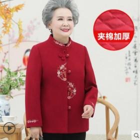 奶奶冬装外套中老年人