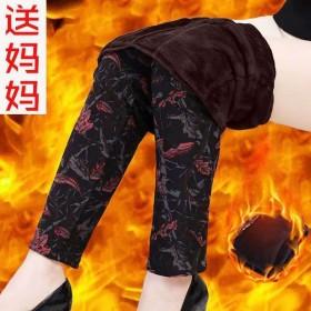 秋冬装妈妈装加绒加厚保暖棉裤