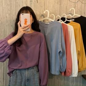 女装2021新款秋季韩版ins宽松薄款套头学生显瘦