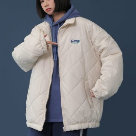 冬季学生夹棉夹克棒球服外套原宿风宽松棉袄面包服