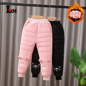 女童棉裤2021冬季新款加厚女宝宝长裤加绒时尚外穿