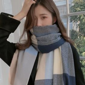 围巾女冬季2021仿羊绒围巾韩国东大门格...