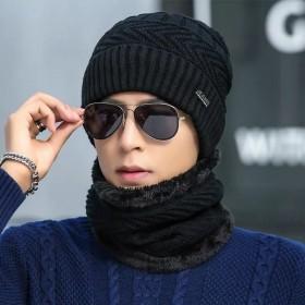 帽子男冬天韩版加绒毛线