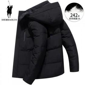 冬季男士羽绒服外套常规拆帽白鸭绒潮流加厚保暖青年收
