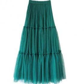 新款高腰显瘦垂感网纱半身超大摆蛋糕裙子