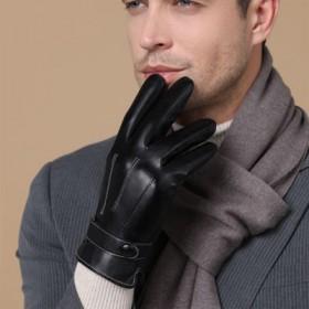 皮手套冬季骑行保暖手套