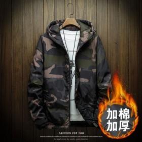 男棉衣外套秋冬韩版棉服学生迷彩加厚棉袄冬天外衣服