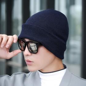 毛线帽秋冬季单帽子
