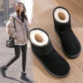 雪地靴女新款加绒鞋子