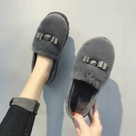 毛毛鞋棉鞋棉拖豆豆鞋保暖鞋女鞋