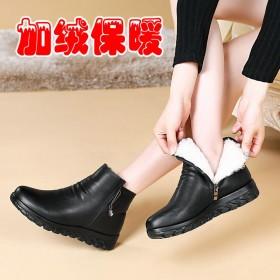 中老年妈妈鞋子女鞋冬季
