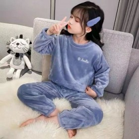 秋冬儿童珊瑚绒暖暖套装