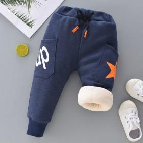儿童裤子加绒加厚男童长裤0-6岁秋冬装宝宝休闲裤